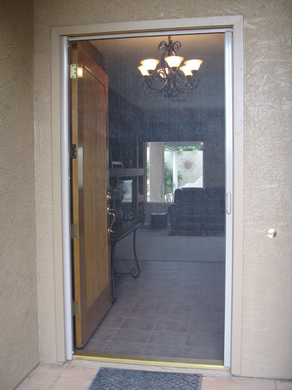 Clearview retractable screen doors aaa sun control for Retractable screen door