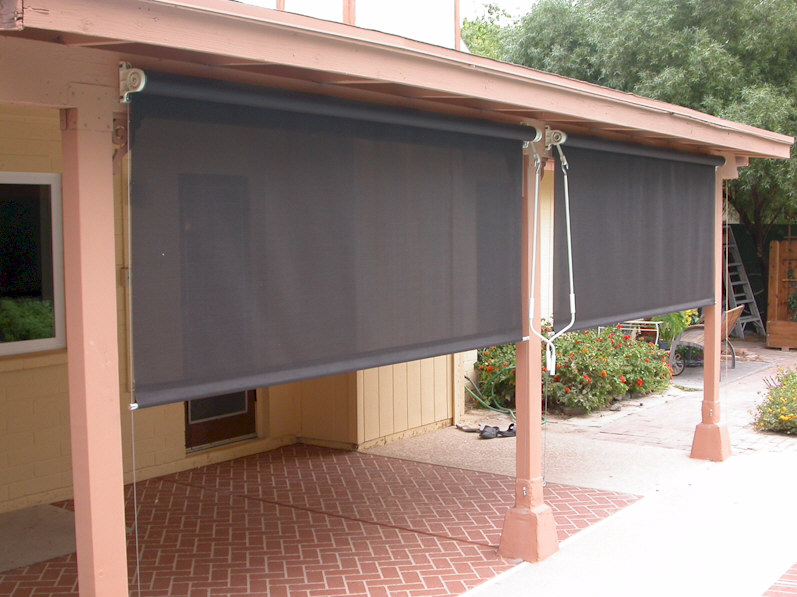 Patio roll down screens modern patio outdoor for Roll up screens for porches