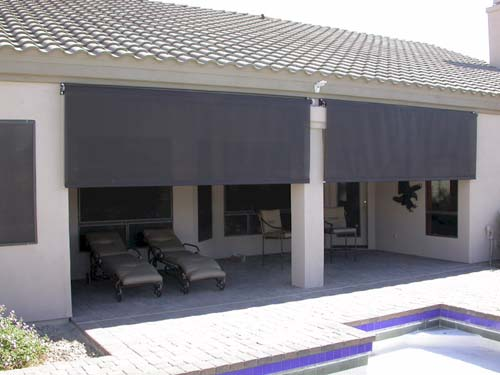 on rails shade guide patio windows for system openings screens retractable doors cable large shades