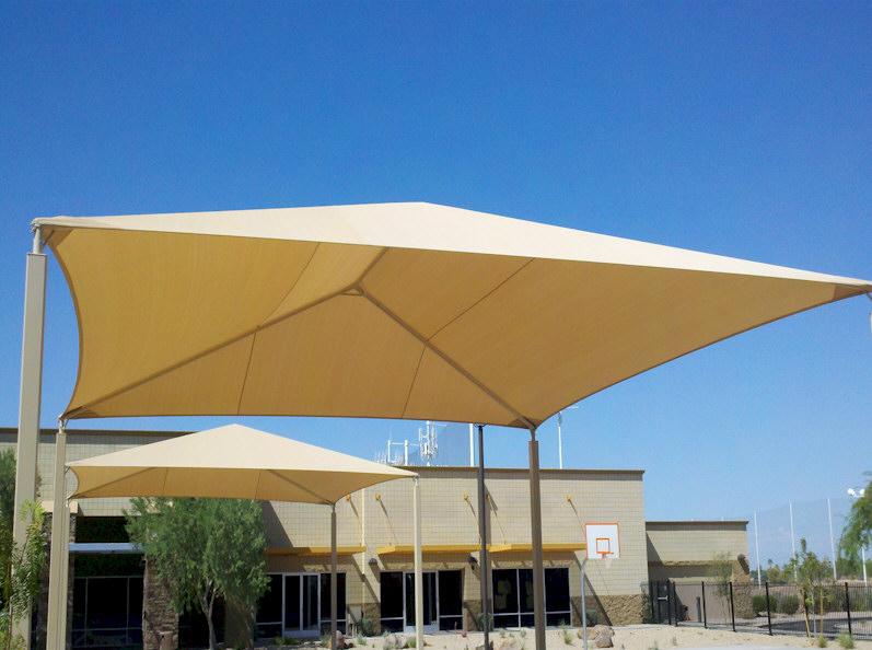 Sun shade sail awnings phoenix aaa sun control for Sun shade structure