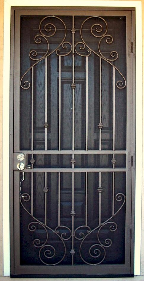 Custom security doors phoenix aaa sun control - Puertas de hierro para exterior ...