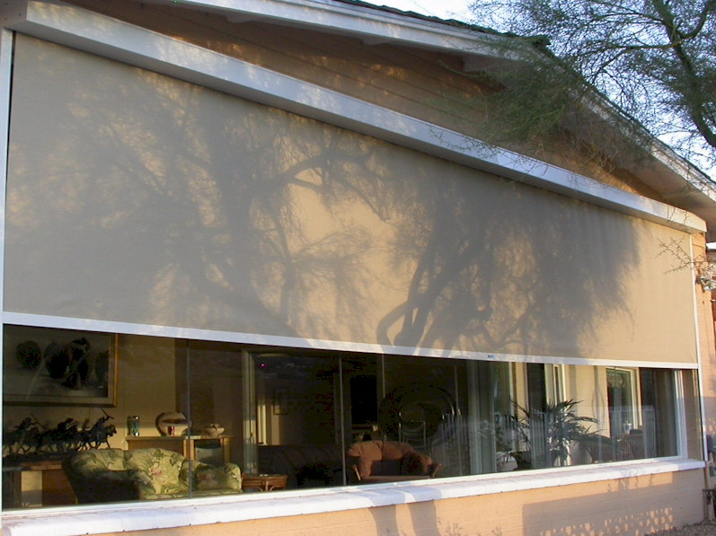 Roller shades phoenix aaa sun control for Exterior roller shade