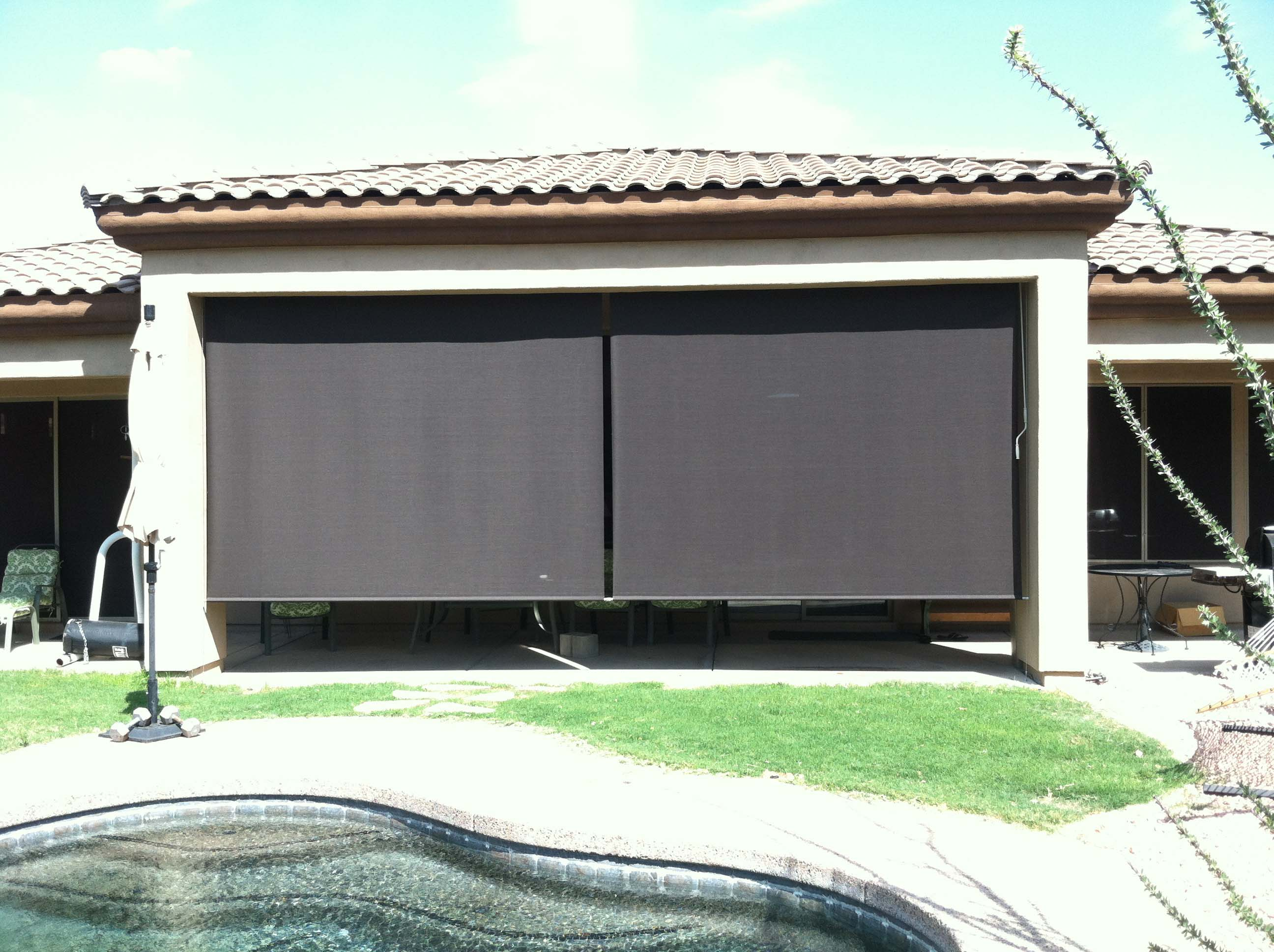 Roll Down Patio Shades Phoenix Aaa Sun Control