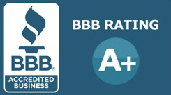 BBB A+ Rating - Click To View BBB Profile