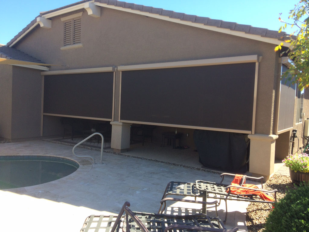 Roll Down Patio Shades Phoenix Aaa